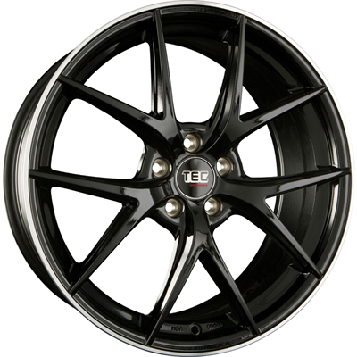 312599 TEC GT6B 8520511245 Tec By Asa Gt6 fælg, 8.5x20 ET45, 112.00/5, Ø72.5, black - polished lip TEC by ASA