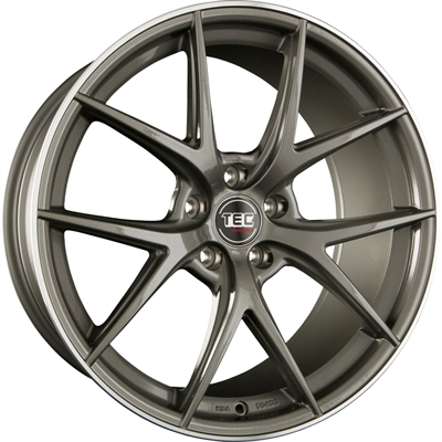 316793 TEC GT6D 10020512038 Tec By Asa Gt6 fælg, 10x20 ET38, 120.00/5, Ø74, dark grey - polished lip TEC by ASA