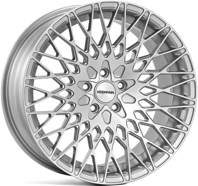 316743 VEE V54 8519511245 Veeman Vc540 fælg, 8.5x19 ET45, 112.00/5, Ø66.6, silver machined Veeman