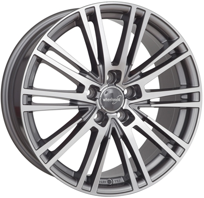 324434 WW WH1815 801851124B Wheelworld Wh18  fælg, 8x18 ET45, 112.00/5, Ø66.6, daytona grey full machined WheelWorld