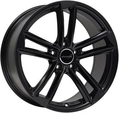 308179 WW WH2713 902051123B Wheelworld Wh27 fælg, 9x20 ET33, 112.00/5, Ø66.6, black matt WheelWorld