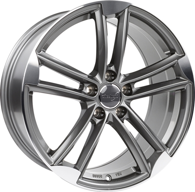 326167 WW WH2714 801851123B Wheelworld Wh27 fælg, 8x18 ET35, 112.00/5, Ø66.6, daytona grey full machined WheelWorld
