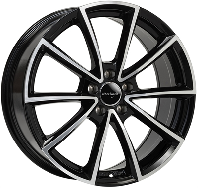 324499 WW WH28 9020511233C Wheelworld Wh28 fælg, 9x20 ET33, 112.00/5, Ø66.6, black full machined WheelWorld