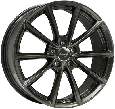 324632 WW WH281 8018511226B Wheelworld Wh28 fælg, 8x18 ET26, 112.00/5, Ø66.6, dark gunmetal WheelWorld