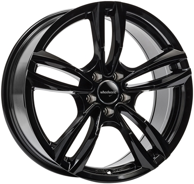 324200 WW WH291 8518512035B Wheelworld Wh29 fælg, 8.5x18 ET35, 120.00/5, Ø72.6, black glossy WheelWorld