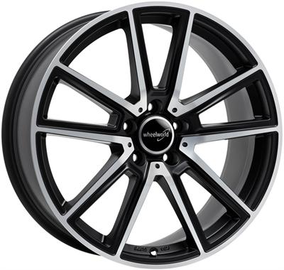 325330 WW WH3012 851951123B Wheelworld Wh30 fælg, 8.5x19 ET30, 112.00/5, Ø66.6, black matt full machined WheelWorld
