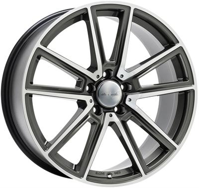 326204 WW WH3013 801851124B Wheelworld Wh30 fælg, 8x18 ET45, 112.00/5, Ø66.6, daytona grey full machined WheelWorld