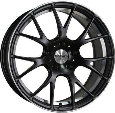 332333 MC MONA19 801851203B Monaco Mirabeau  fælg, 8x18 ET35, 120.00/5, Ø72.6, dull black / polish Monaco