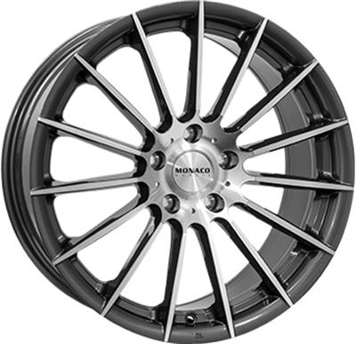 334904 MC MO14 8018512030 Monaco Formula fælg, 8x18 ET30, 120.00/5, Ø72.6, anthracite / polish Monaco