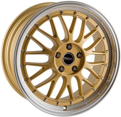 337262 KW TE 8519512015B KW Techtimeless fælg, 8.5x19 ET15, 120.00/5, Ø74, gold/polished lip KW