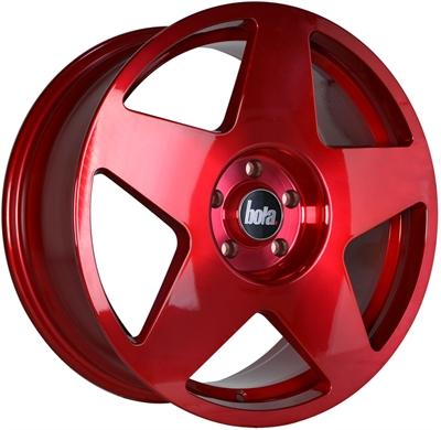371851 BOA B16 8018511540D Bola B10 fælg, 8x18 ET40, 115.00/5, Ø72.6, hyper red Bola