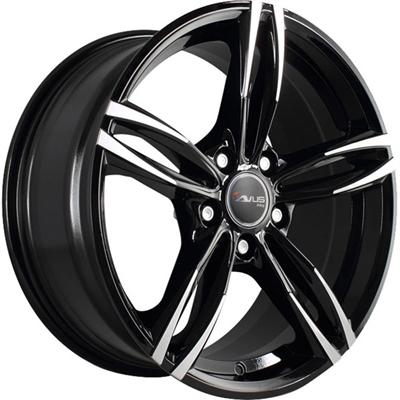 363044 AVU AC5 8018512030B AVUS Racing AC-MB3 fælg, 8x18 ET30, 120.00/5, Ø72.6, black polished Avus Racing