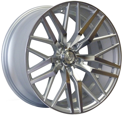 363177 AXE EX24 9022511220B Axe Ex30 fælg, 9x22 ET20, 112.00/5, Ø74, silver - polished face - polished barrel AXE