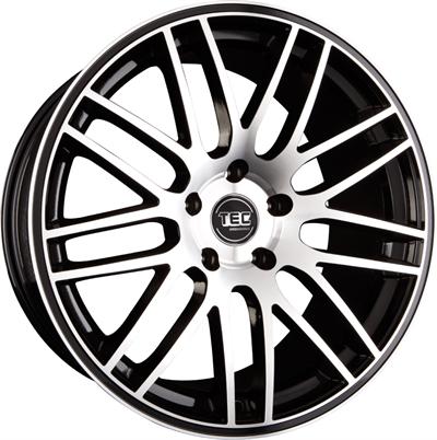367865 TEC GT 8518511245B Tec By Asa GT1 fælg, 8.5x18 ET45, 112.00/5, Ø72.5, black glossy - polished TEC by ASA