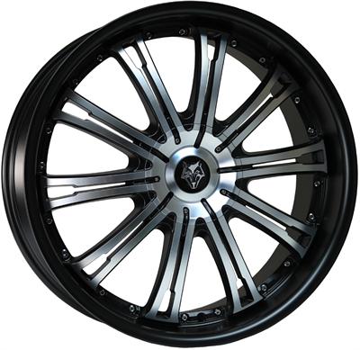 366692 WOD VE 8520511225B Wolf Design Vermont fælg, 8.5x20 ET25, 112.00/5, Ø72.6, black - polished face - matt black lip Wolf Design