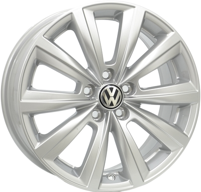 420506 VW MIS 7016510046S VW Mistral Silver fælg, 7x16 ET46, 100.00/5, Ø57, Silver- O.E. incl. OE cap VW