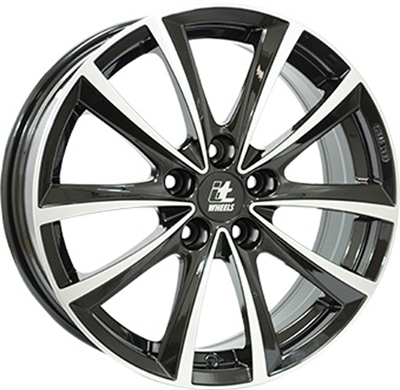 420015 ITW IW2 8018512030 It Wheels Elena fælg, 8x18 ET30, 120.00/5, Ø72.5, black / polished IT Wheels