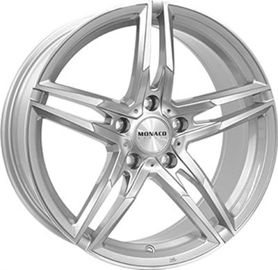 420103 MC MO111 9019512038 Monaco Grandprix fælg, 9x19 ET38, 120.00/5, Ø72.5, silver Monaco