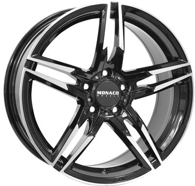 420012 MC MO113 8018512035 Monaco Grandprix fælg, 8x18 ET35, 120.00/5, Ø72.5, black / polished Monaco