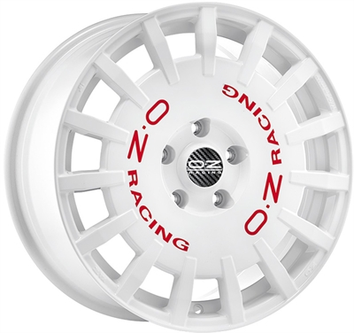415774 OZ RA13 7017409835 Oz Racing Rallyracing fælg, 7x17 ET35, 98.00/4, Ø58, race white OZ Racing