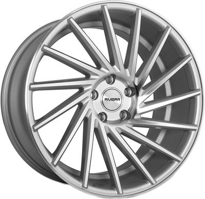 409350 RVA RV31 8519511235 Riviera Rv135 fælg, 8.5x19 ET35, 112.00/5, Ø73, silver machined Riviera