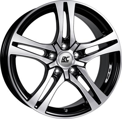 414091 RC RC1 7518512045B Rc Rc26 fælg, 7.5x18 ET45, 120.00/5, Ø72.6, schwarz front-poliert RC Design