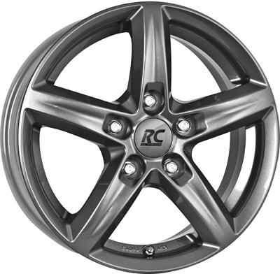 413928 RC RC12 6516511233C Rc Rc24 fælg, 6.5x16 ET33, 112.00/5, Ø57, titan-metallic lackiert RC Design