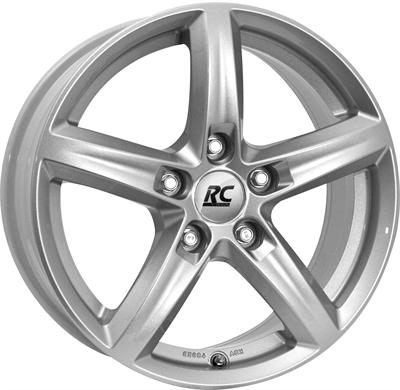 413781 RC RC131 7517511235C Rc Rc24 fælg, 7.5x17 ET35, 112.00/5, Ø66.6, kristallsilber lackiert RC Design