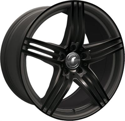 414993 ROD 021 8518512035B Rondell 0217 fælg, 8.5x18 ET35, 120.00/5, Ø72.6, black, glossy black elpho polish Rondell