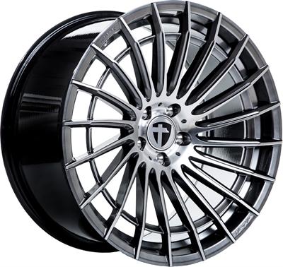 411924 TOM TN14 8520511245B Tomason Tn21 fælg, 8.5x20 ET45, 112.00/5, Ø72.6, dark hyper black polished Tomason