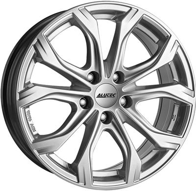 412702 ATE W1 9020512043D Uniwheels W10X fælg, 9x20 ET43, 120.00/5, Ø76.1, polar-silber Alutec