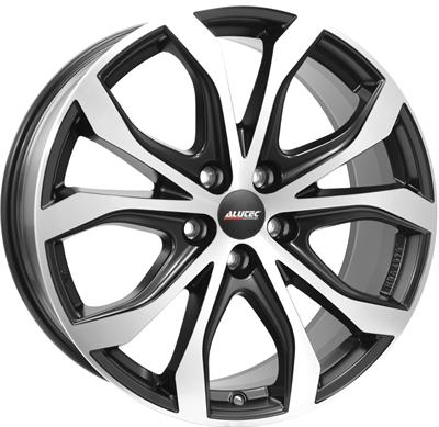 412732 ATE W11 9020512043D Uniwheels W10X fælg, 9x20 ET43, 120.00/5, Ø76.1, racing-schwarz frontpoliert Alutec