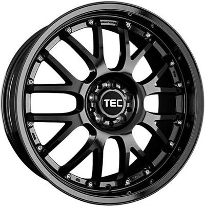411857 TEC GT10 8519511230B Tec By Asa GT-AR1 fælg, 8.5x19 ET30, 112.00/5, Ø72.5, black glossy TEC by ASA
