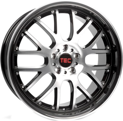 411972 TEC GT5 8017410035B Tec By Asa GT-AR1 fælg, 8x17 ET35, 100.00/4, Ø64, black - polished TEC by ASA