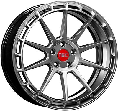 411783 TEC GT11 8519511245C Tec By Asa GT8 fælg, 8.5x19 ET45, 112.00/5, Ø72.5, hyper silver TEC by ASA