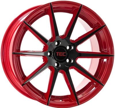 412190 TEC GT6 8520511245B Tec By Asa GT7 fælg, 8.5x20 ET45, 112.00/5, Ø72.5, black - red TEC by ASA