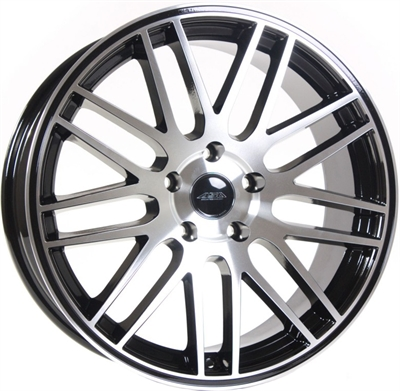 368033 TEC GT 8519512037B Tec By Asa GT1 fælg, 8.5x19 ET37, 120.00/5, Ø72.5, black glossy - polished TEC by ASA