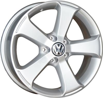 423787 ALU VW 1K8071497 VW Sima fælg, 6.5x17 OEM demounted incl VW cap ET39, 112.00/5, Ø57, Silver VW