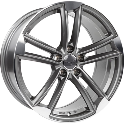 324305 WW WH2714 902051123D Wheelworld Wh27 fælg, 9x20 ET33, 112.00/5, Ø66.6, daytona grey full machined WheelWorld