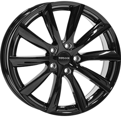 428531 MC MO127 9020512045 Monaco Grandprix 6 fælg, 9x20 ET45, 120.00/5, Ø74.1, gloss black Monaco