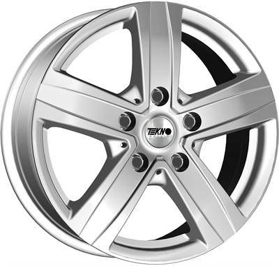 428505 TEK VN5S 6516511860 Tekno VN5 fælg, 6.5x16 ET60, 118.00/5, Ø71.1, Silver Tekno Wheels