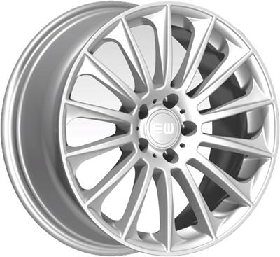 428281 ETW WBS 8519511245 Elite Wild Beauty fælg, 8.5x19 ET45, 112.00/5, Ø66.6, Crystal Silver Elite Wheels