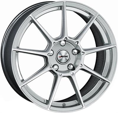 428987 AUT CRS 8518512042 Autec Clubracing fælg, 8.5x18 ET42, 120.00/5, Ø72.6, hyper silver Autec