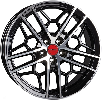 429233 BOR GTYP 8519511230 Borbet GTY fælg, 8.5x19 ET30, 112.00/5, Ø72.6, black rim polished glossy Borbet