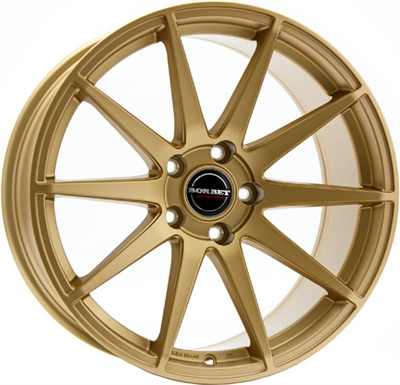 267289 BOR GT2 8519511245B Borbet Gtx fælg, 8.5x19 ET45, 112.00/5, Ø72.5, gold matt Borbet