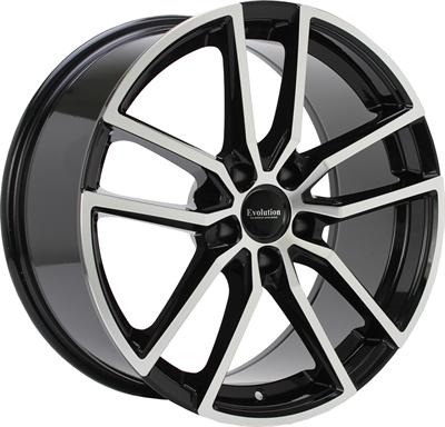 431501 GMP S4 8018511235 Evolution Baden S310 fælg, 8x18 ET35, 112.00/5, Ø66.45, Black Polished Evolution