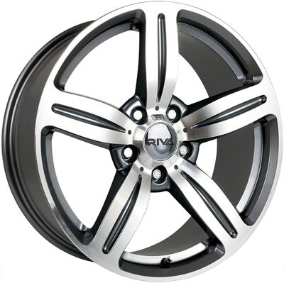 337711 RIV MS4 8019512020B Riva Wheels Msx fælg, 8x19 ET20, 120.00/5, Ø72.6, anthracite & polished Riva Wheels
