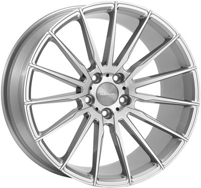 338014 VEE V-1 9519511242B Veeman V-fs19 fælg, 9.5x19 ET42, 112.00/5, Ø66.6, silver-machined Veeman
