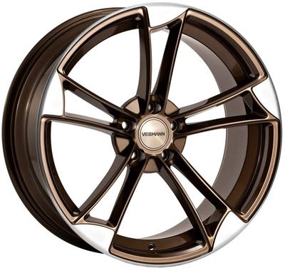 338067 VEE VM3 9020511225B Veeman Vm1 fælg, 9x20 ET25, 112.00/5, Ø66.6, crystal-bronze-machined-polished Veeman