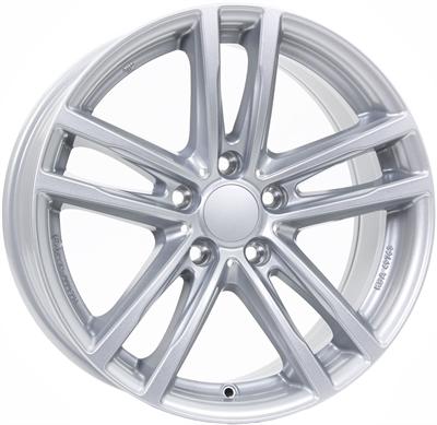 432234 UW X10XS 8518511244 Uniwheels X10x fælg, 8.5x18 ET44, 112.00/5, Ø66.6, polar-silver Rial
